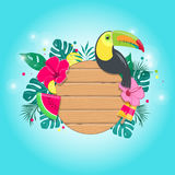 Composición tropical del verano en vector Fotografía de archivo