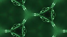 Composición verde compleja de las partículas que forman las células 3d colocó la animación alisada de las partículas con un calei metrajes