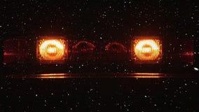 Composición video con nieve sobre luces del centelleo metrajes