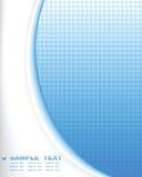 Composición azul del fondo del extracto de la tecnología Foto de archivo libre de regalías