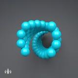 composición colorida de las esferas 3d Modelo del vector Estilo futurista de la tecnología Ejemplo del vector para el diseño web, Foto de archivo libre de regalías