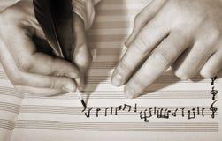 Composición de la música Foto de archivo