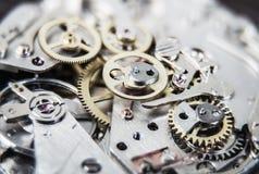 Composición del fondo del reloj mechanism Fotografía de archivo libre de regalías