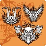 Composiciones de la motocicleta - conjunto 16 libre illustration