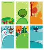 Composiciones decorativas naturales stock de ilustración