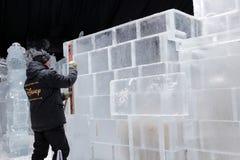 Composiciones del hielo en St Petersburg, Rusia Fotos de archivo libres de regalías