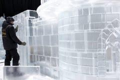 Composiciones del hielo en St Petersburg, Rusia Fotografía de archivo