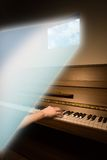 Composing. Music composer in a creative mental state Royalty Free Stock Photos