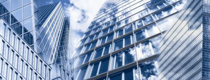 Skyscrapers and glass facades Royalty Free Stock Image