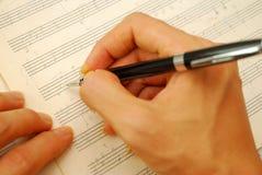 Composing Music On Old Manuscript Stock Photos