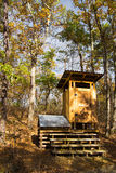Composing Privy on the Appalachian Trail Stock Photography