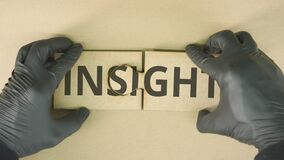 Completing jigsaw puzzle with INSIGHT text