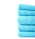 Composição de toalha de banho de toalha Imagens de Stock