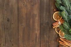 Composição do Natal com especiarias Imagem de Stock Royalty Free