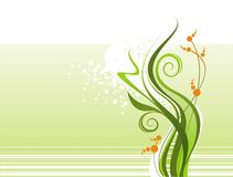 Composição floral abstrata Fotografia de Stock