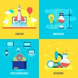 Composição lisa do desenvolvimento de negócios Imagens de Stock