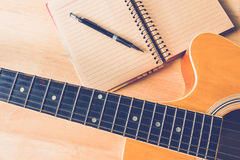 Composion guitar Royalty Free Stock Image