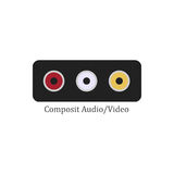 Composit audio video Stock Image