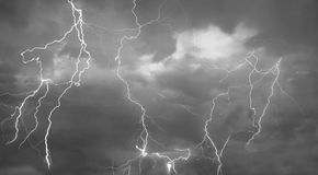 Composite abstract picture of Lightning Royalty Free Stock Image