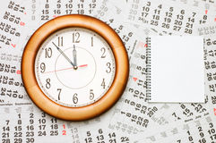 Composite of Calendar and Clock Stock Image