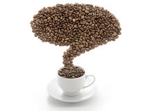 Composite of coffee beans Stock Photography