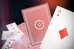 Composite 3d image of ace of diamonds card Stock Photos