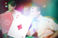 Composite 3d image of ace of diamonds card Royalty Free Stock Image