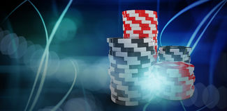Composite 3d image of computer graphic image of gambling chips Stock Photo