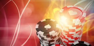 Composite 3d image of  image of gambling chips Royalty Free Stock Photography