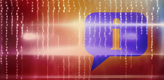 Composite 3d image of speech bubble. 3D speech bubble against blue technology design with glow Royalty Free Stock Image