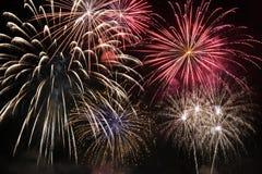 Multiple fireworks display Stock Photo