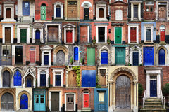 COMPOSITE OF FRONT DOORS Royalty Free Stock Image