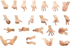 Composite of Hand gestures Royalty Free Stock Images