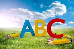 Composite image of abc graphic Stock Images
