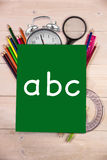 Composite image of abc letters Stock Image