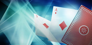Composite image of ace of diamonds 3d card Stock Images