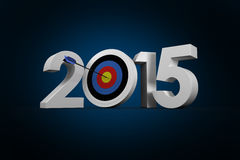 Composite image of 2015. 2015 against blue background with vignette Royalty Free Stock Image
