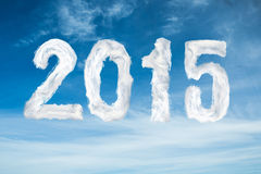 Composite image of 2015. 2015 against blue sky Stock Photo