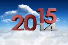 Composite image of 2014 and 2015 Royalty Free Stock Images
