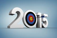 Composite image of 2015. 2015 against purple vignette Stock Image