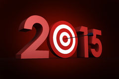 Composite image of 2015. 2015 against red background with vignette Royalty Free Stock Photo