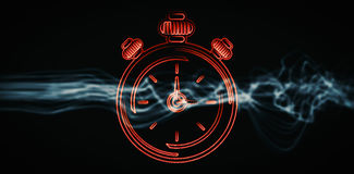 Composite image of alarm clock Stock Images