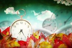Composite image of alarm clock Stock Photo