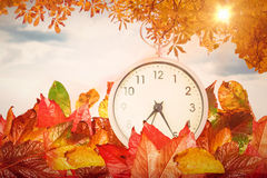 Composite image of alarm clock Royalty Free Stock Images