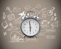 Composite image of alarm clock Royalty Free Stock Photo