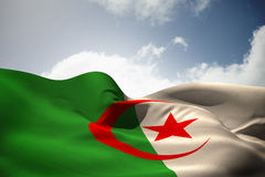 Composite image of algeria flag waving Stock Photos