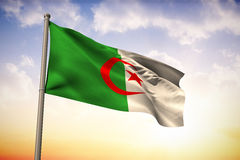 Composite image of algeria national flag Royalty Free Stock Photo