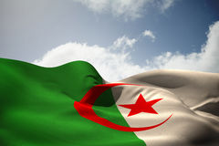 Composite image of algeria national flag Stock Images