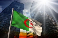 Composite image of algeria national flag Royalty Free Stock Images