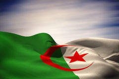 Composite image of algeria national flag Stock Photo